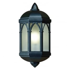 YG-065-BL Brighton Outdoor 1 Light Flush Mounted Wall Light Black IP44 Rated