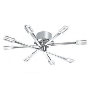 3018-8CC Lina 8 Light Semi-Flush Ceiling Light Polished Chrome