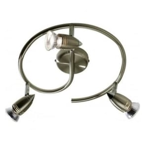 GEM8275 Gemini 3 Light Ceiling Spotlight Antique Brass