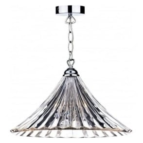 ARD868 Ardeche 1 Light Ceiling Pendant Clear Glass