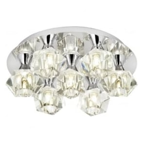 ARIETTA-7PCH Arietta 7 Light Semi-Flush Ceiling Light Chrome
