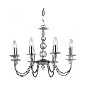 2013-8CH Parkstone 8 Light Ceiling Light Polished Chrome
