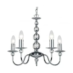 2013-5CH Parkstone 5 Light Ceiling Light Polished Chrome