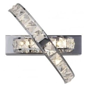 ETE3050 Eternity 3 Light Crystal Wall Light Polished Chrome