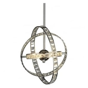 ETE0650 Eternity 6 Light Crystal Ceiling Pendant Polished Chrome