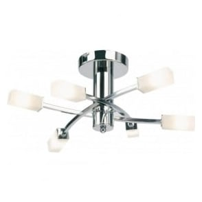 146-6CH Havana 6 Light Ceiling Light Polished Chrome