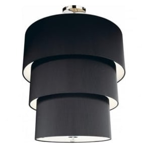 ZAR2322 Zaragoza 3 Tier 12 Light Black Ceiling Pendant