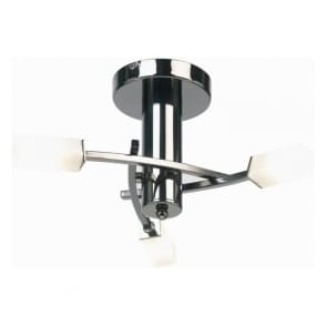 146-3BC Havana 3 Light Ceiling Light Black Chrome