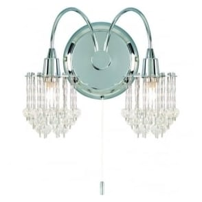 850-2CH Milieu 2 Light Switched Wall Light Polished Chrome