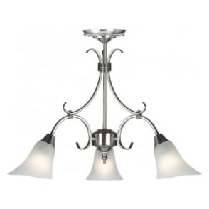 144-3AS Hardwick 3 Light Ceiling Light Antique Silver