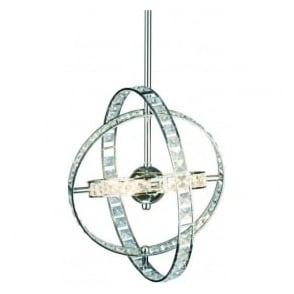 ETE6450 Eternity 6 Light Crystal Ceiling Pendant Polished Chrome