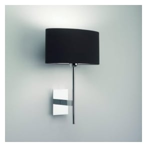0920 Lloyd Wall Light Chrome with Round Shade