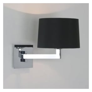 0995 Momo Single Wall Light Chrome with Round Shade IP44