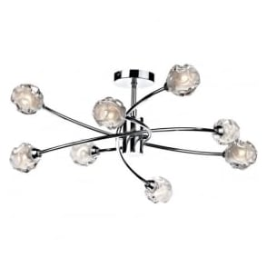 SEA0850 Seattle 8 Light Ceiling Light Polished Chrome