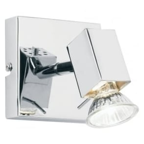 EL-10049 1 light modern wall spotlight polished chrome finish (adjustable head)