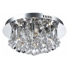 CFH011025/04/CH Parma 4 Light Flush Ceiling Light Polished Chrome