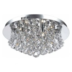 CFH011025/06/CH Parma 6 Light Flush Ceiling Light Polished Chrome