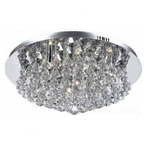 Impex Russell CFH011025/08/CH Parma 8 Light Flush Ceiling Light Polished Chrome