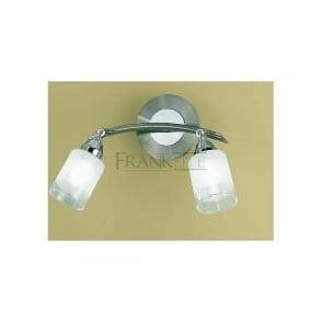 DP40022 Campani 2 Light Wall Light Satin Nickel and Chrome
