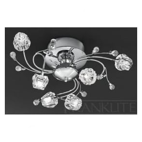 FL2168/6 Podette 6 Light Ceiling Light Polished Chrome