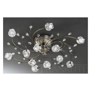 FL2169/12 Podette 12 Light Ceiling Light Bronze