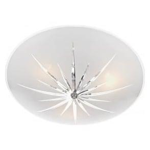 ALB532 Albany 3 Light Semi-Flush Ceiling Light Polished Chrome