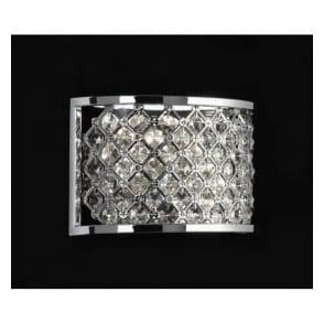 HUDSON-2WBCH Hudson 2 Light Crystal Wall Light Chrome
