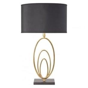 VILANA-TLGO Vilana 1 Light Table Lamp Antique Gold Leaf