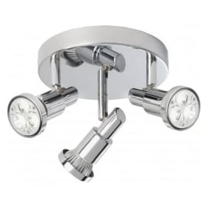 5343CC Torch 3 Light Ceiling Spotlight Polished Chrome