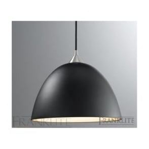 FL2290/1/931 Vetross 1 Light Ceiling Pendant Black/Gold