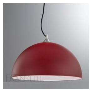 FL2291/1/935 Vetross 1 Light Ceiling Pendant Red/White