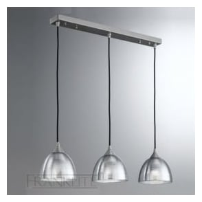 FL2290/3/927 Vetross 3 Light Ceiling Pendant Translucent Silver