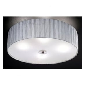 FL2283/4 Lucera 4 Light Flush Ceiling Light Translucent Silver