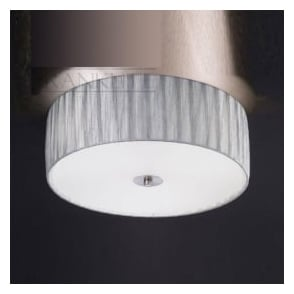 FL2283/3 Lucera 3 Light Flush Ceiling Light Translucent Silver
