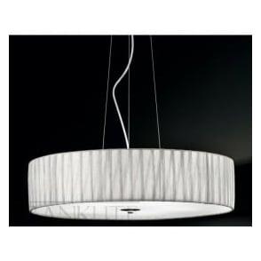 FL2284/5 FL2284EL/518 Lucera 5 Light Ceiling Pendant Translucent Silver