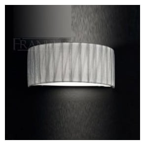 FL2283/1 FL2283EL/118 Lucera 1 Light Wall Light Translucent Silver