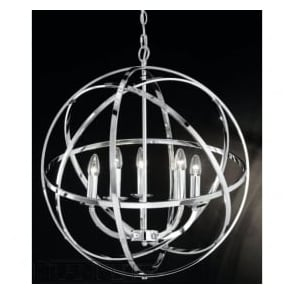 FL2280/5 Zany 6 Light Ceiling Pendant Polished Chrome