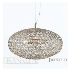 FL2274/3 Marquesa 3 Light Crystal Ceiling Pendant Bronze
