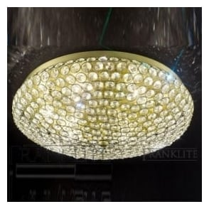 FL2276/6 Marquesa 6 Light Crystal Flush Ceiling Light Bronze