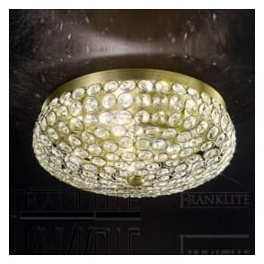 FL2276/4 Marquesa 4 Light Crystal Flush Ceiling Light Bronze