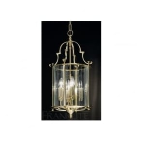 LA7009/4 Montagu 4 Light Ceiling Lantern Polished Brass