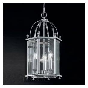 LA7008/3 Madison 3 Light Ceiling Lantern Polished Chrome
