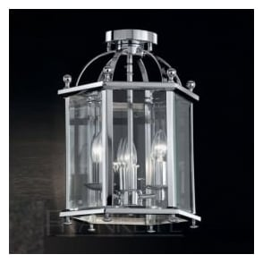 LA7013/3 Madison 3 Light Ceiling Lantern Polished Chrome