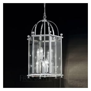 LA7008/8 Madison 8 Light Ceiling Lantern Polished Chrome