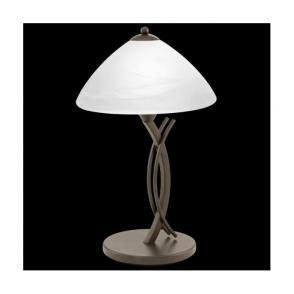 91435 Vinovo 1 Table Lamp Light Dark Brown Steel & White Alabaster Glass
