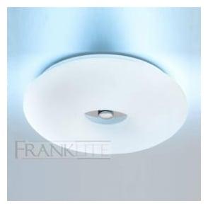 CF5710EL 1 Light Flush Low Energy Ceiling Light Chrome