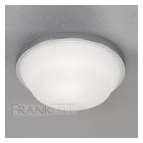 CF5704EL 1 Light Flush Low Energy Ceiling Light Chrome