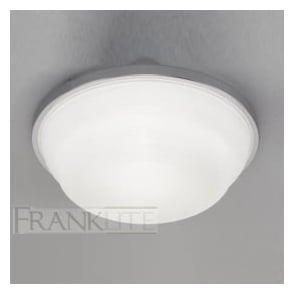 CF5705EL 1 Light Flush Low Energy Ceiling Light Chrome