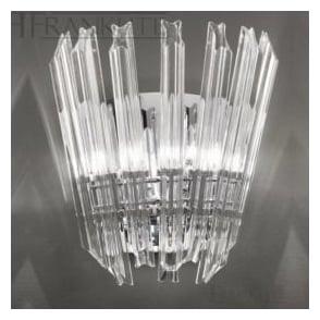 FL2231/2 Imagine 2 Light Crystal Wall Light Polished Chrome
