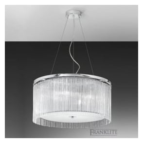 FL2191/4 Eros 4 Light Ceiling Pendant Polished Chrome